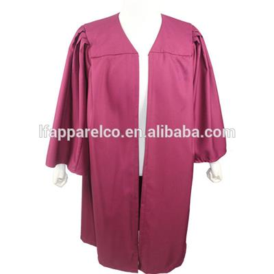 Customized Graduation Bachelor Gown In Red Color