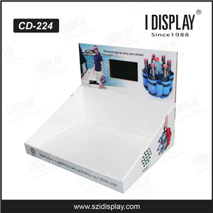 POP Up Free Standing Cardboard Lcd Display For Supermarket Promotion