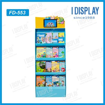 POS Cardboard Pallet Stationery Display Stand For Retail