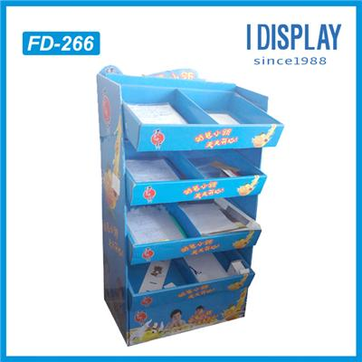 Custom Corrugated Cardboard Booth Display Stands Pallet Display For Pen Stationery Retail