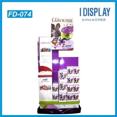 China Supplier Floor Advertising Cardboard Display Stands For Books And Pens