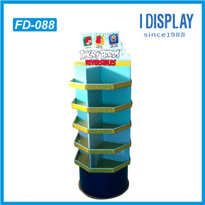 Low Cost High Quality Paper Flooring Display Stands For Toys