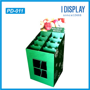 Ecofriendly POP Up Corrugated Carton Advertising Pallet Display Standing