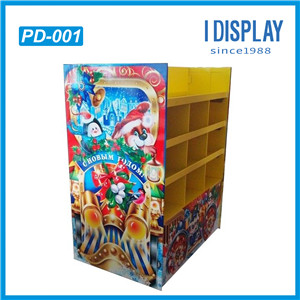 Corrugated Pallet Cardboard Stand Up Book Display Stand For Promotion