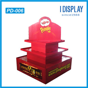 Customized Made Strong Cardboard Pallet Display Shelf For Supermarket Retail