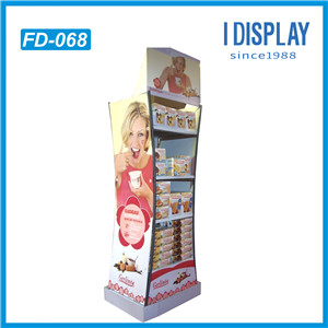 Paper Material Wholesale Floor Display Stands For Cosmetics