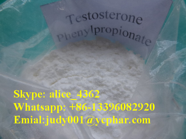 Testosterone Phenylpropionate Skype: alice_4362 Whatsapp: +86-13396082920 Emial:judy001@ycphar.com Chemical Name: 4-Androsten-17beta-ol-3-one Phenylpropionate CAS NO.: 1255-49-8 Molecular Formula: C28