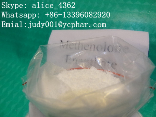 Methenolone Enanthate judy001@ycphar.com Skype: alice_4362 Whatsapp: +86-13396082920 Emial:judy001@ycphar.com Chemical Name: 1(5alpha)-androsten-1beta-methyl-17beta-ol-3-one Enanthate CAS NO.:303-42-4