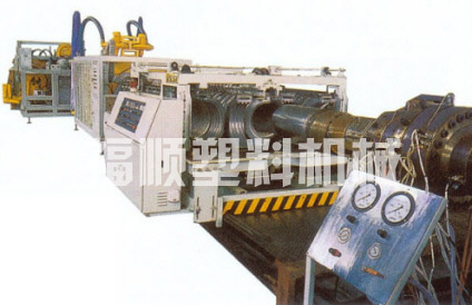 PE, PVC series double -wall corrugated pipe production line