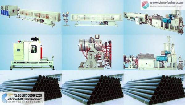 HDPE large caliber gas duct and water pipe production line