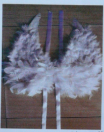 feather angel wings for sale - China supplier W-1004 40x40cm