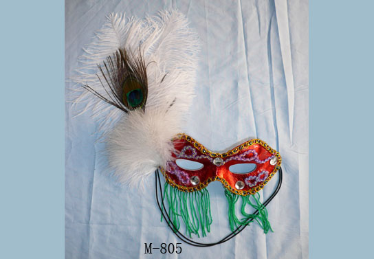 Cheap feather masks for sale - Made in China M-805