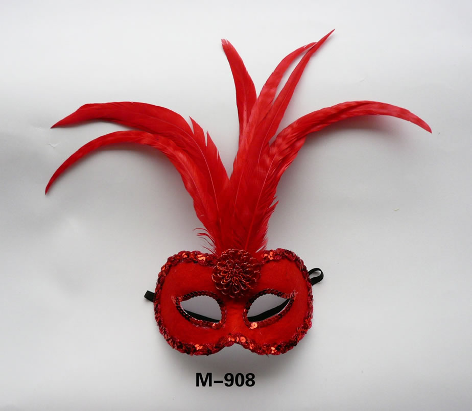 Cheap feather masks for sale - Made in China M-908