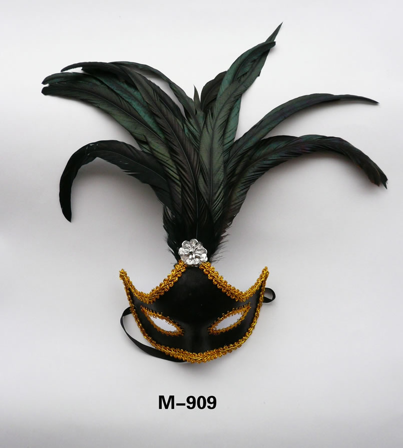 Cheap feather masks for sale - Made in China M-909