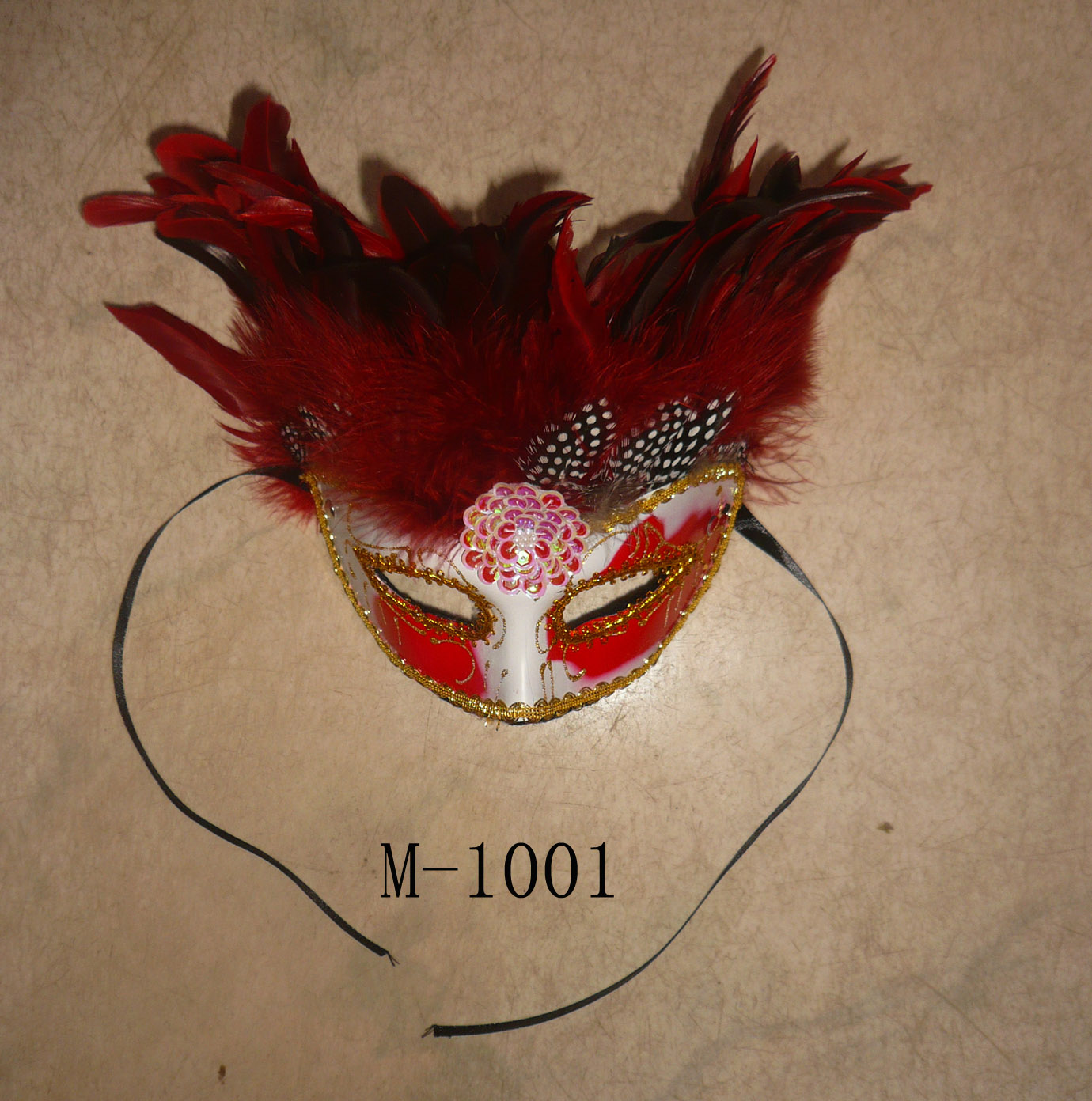 Cheap feather masks for sale - Made in China M-1001