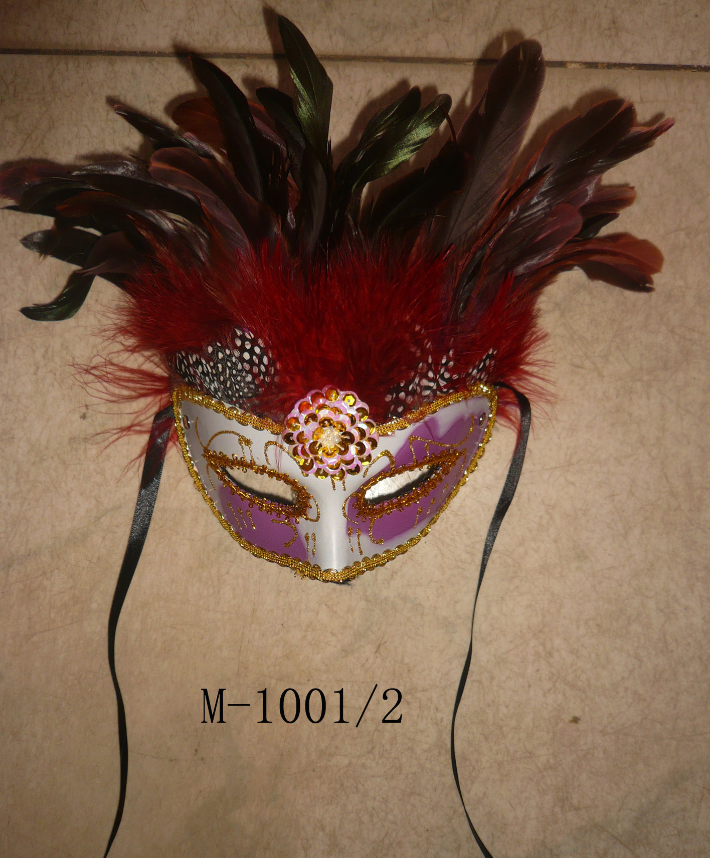 Cheap feather masks for sale - Made in China M-1001/2