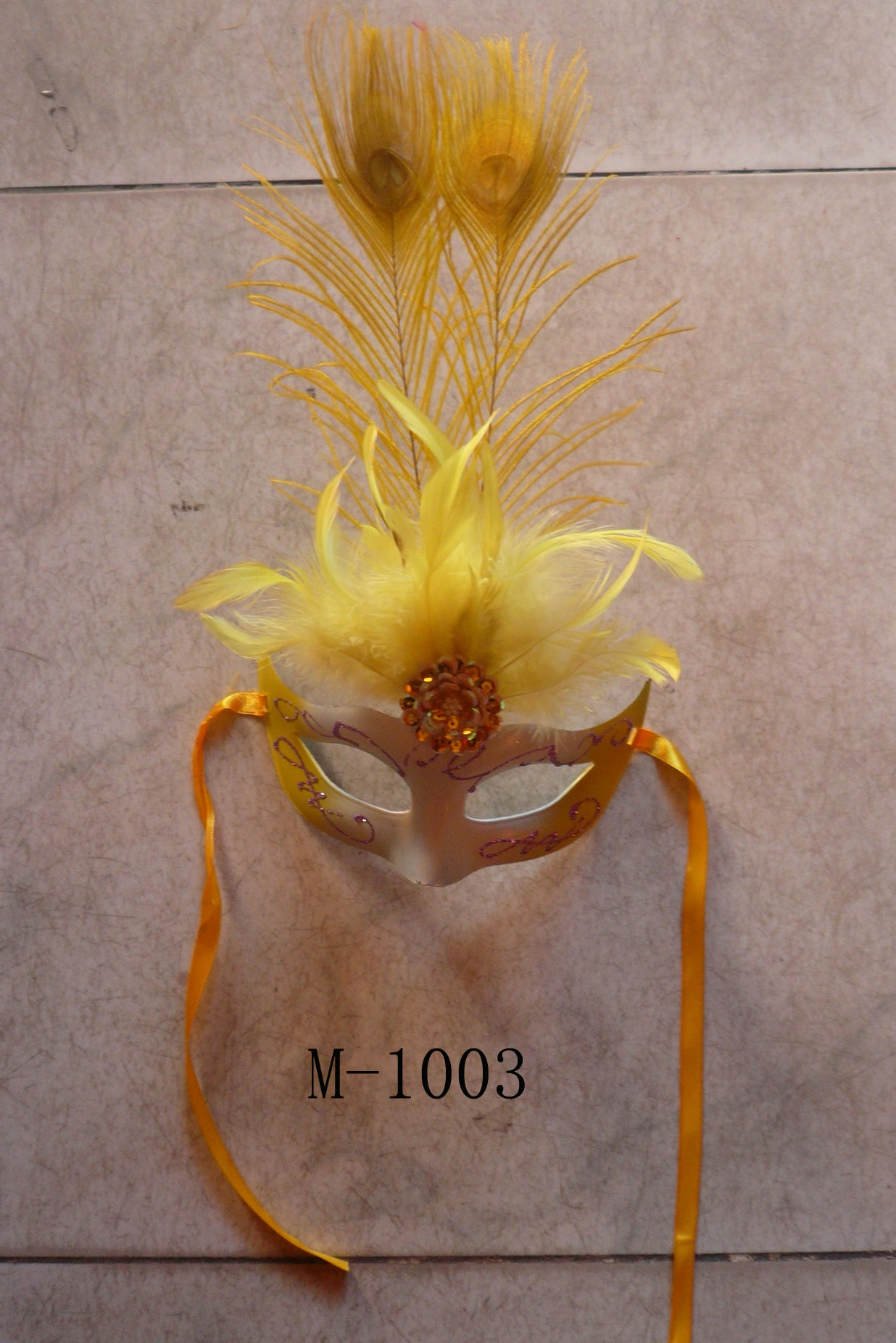 Cheap feather masks for sale - Made in China M-1003