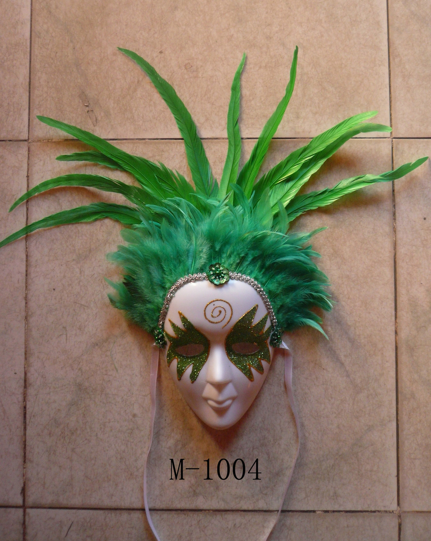 Cheap feather masks for sale - Made in China M-1004