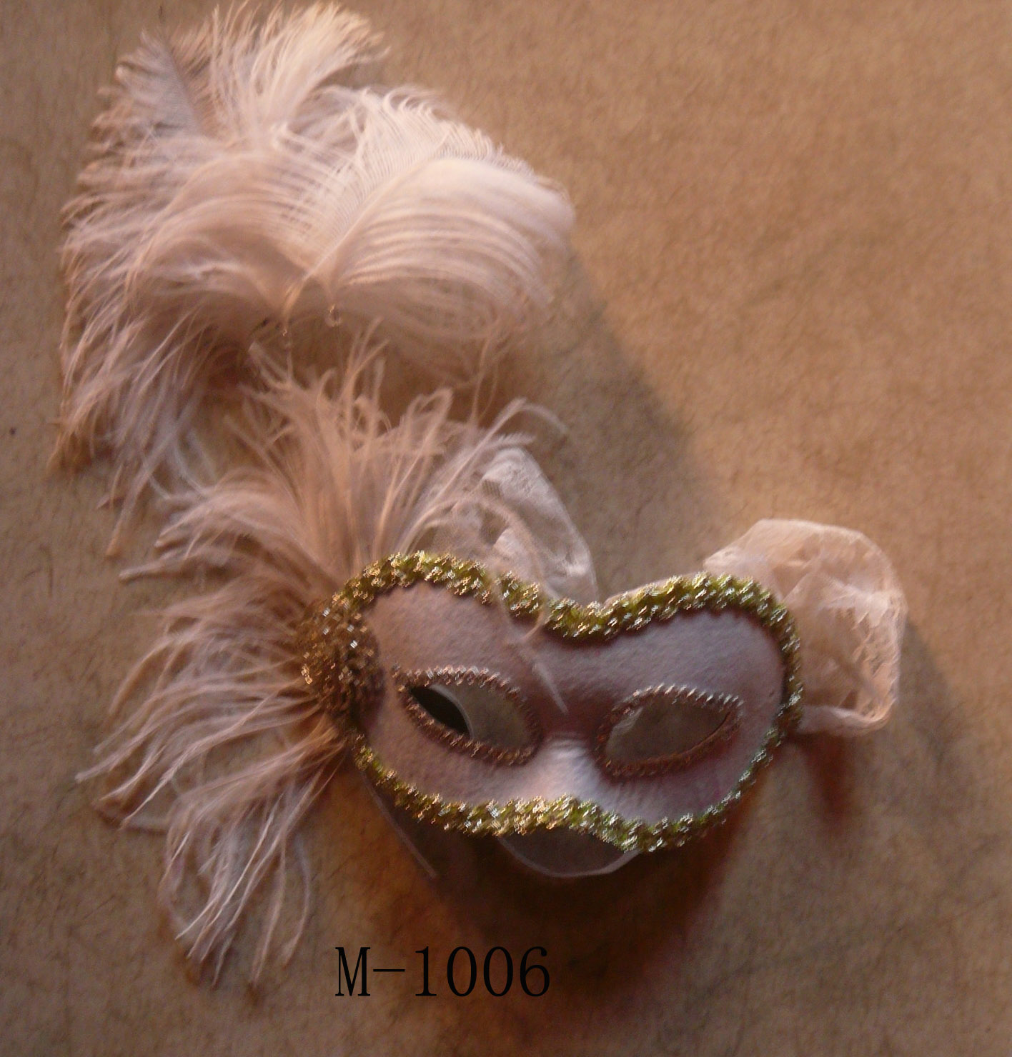 Cheap feather masks for sale - Made in China M-1006