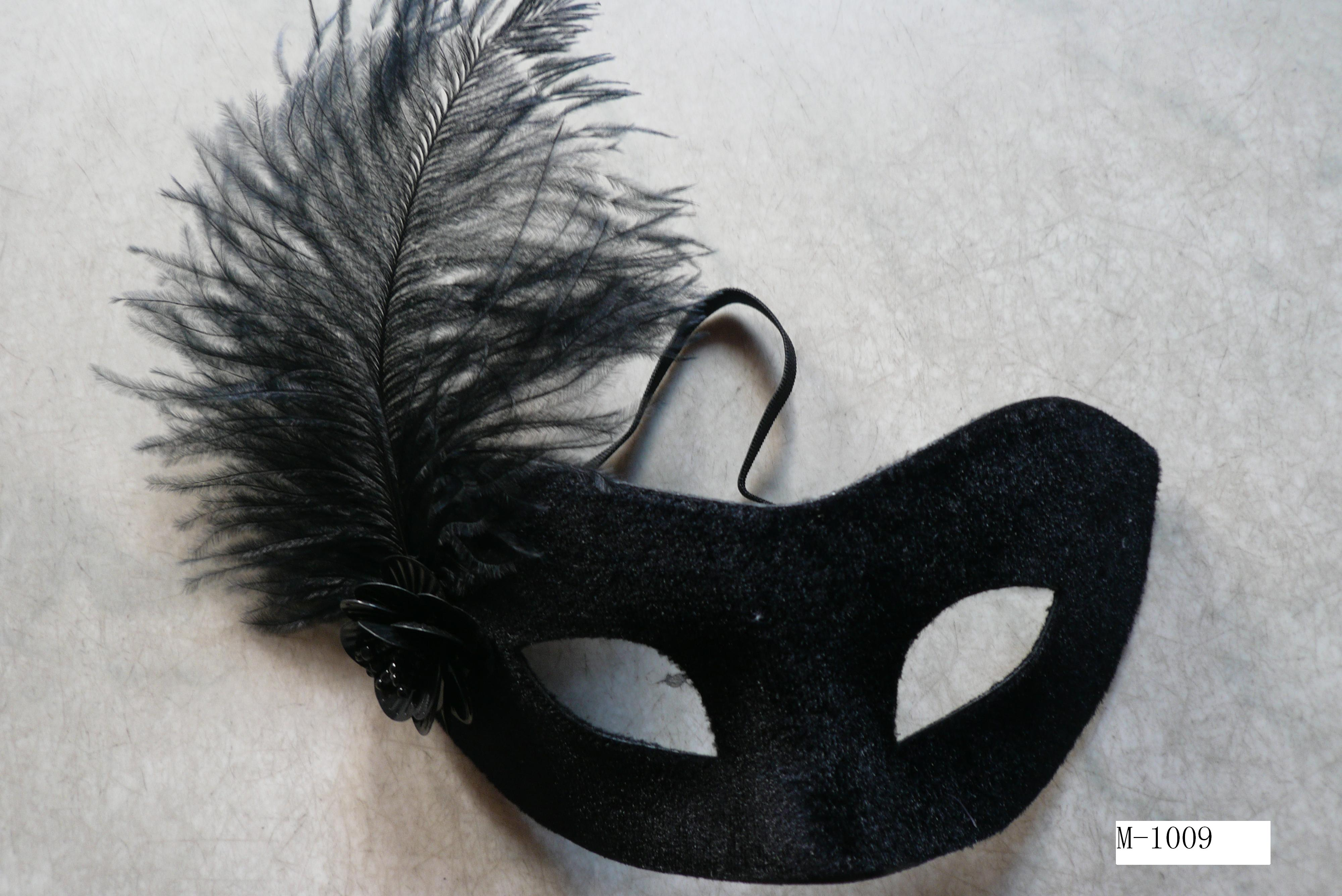 Cheap feather masks for sale - Made in China M-1009