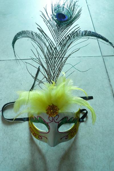 Cheap feather masks for sale - Made in China M-1012