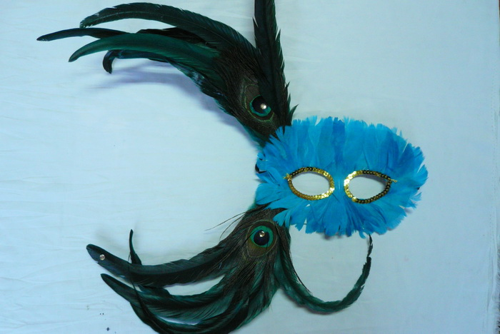 Cheap feather masks for sale - Made in China M-1021
