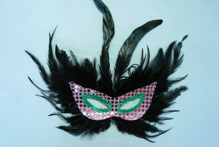 Cheap feather masks for sale - Made in China M-1022