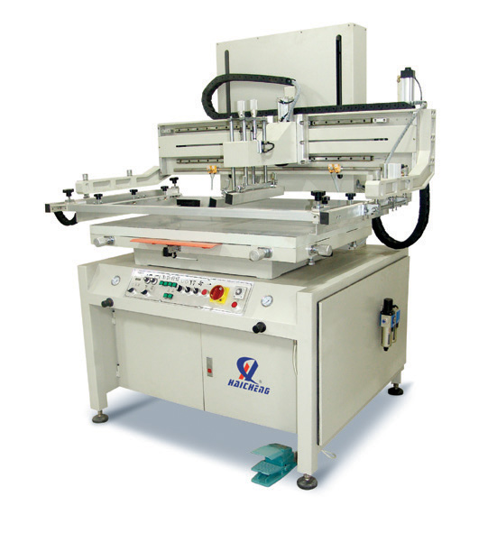 HC-D1 Motor lifting/descending plane screen printer