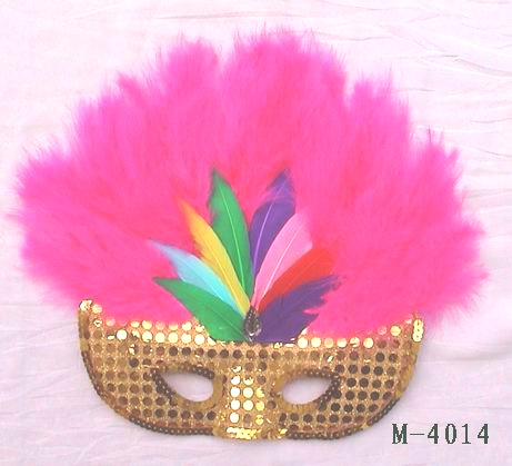 Cheap feather masks for sale - Made in China M-4014