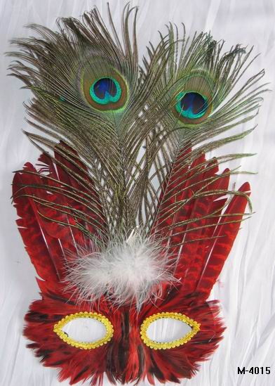Cheap feather masks for sale - Made in China M-4015