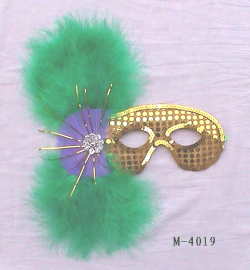 Cheap feather masks for sale - Made in China M-4019