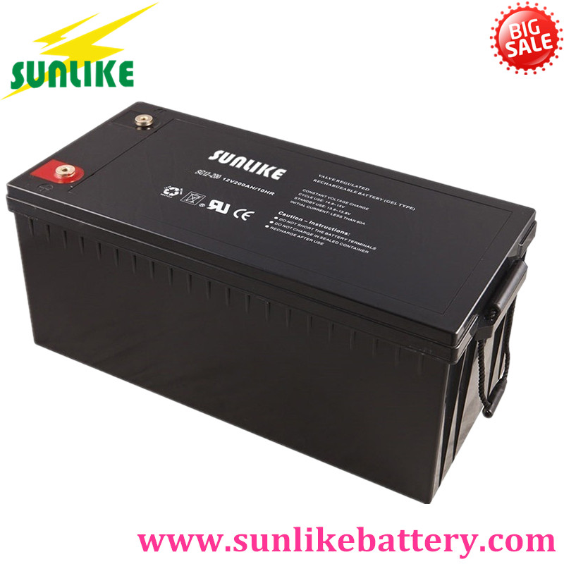 Solar Gel Battery 12V 200ah Deep Cycle Gel Battery 200ah