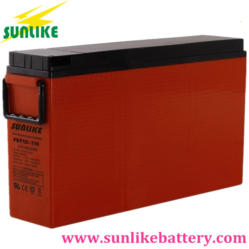front terminal battery, front access terminal battery