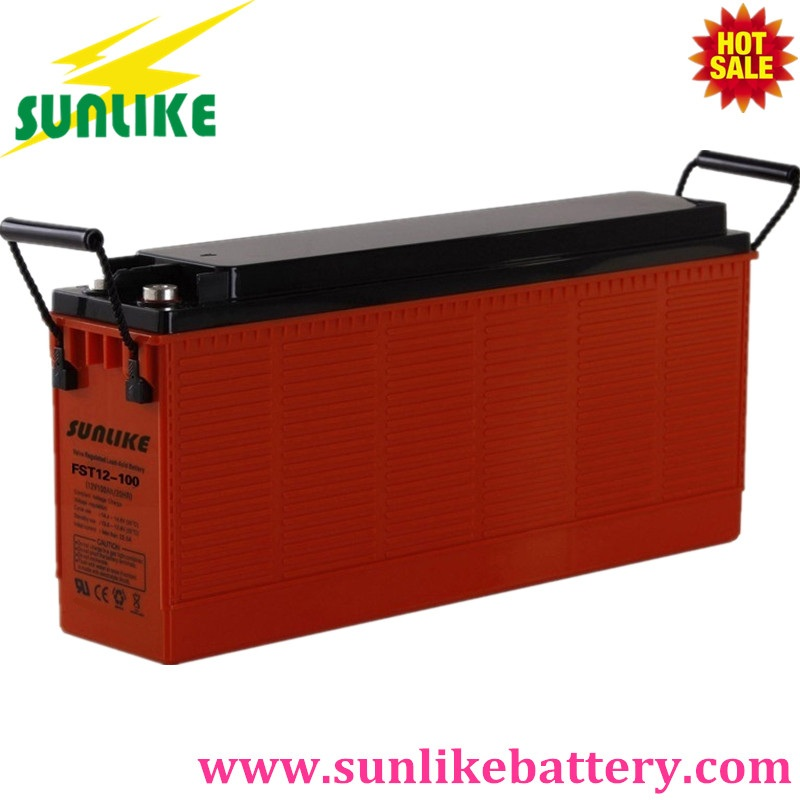 vrla battery, front terminal battery, solar power battery