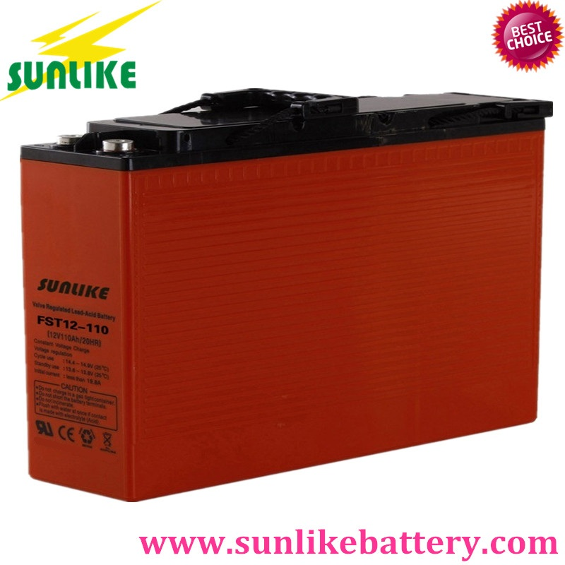 agm battery, front terminal battery, solar power battery