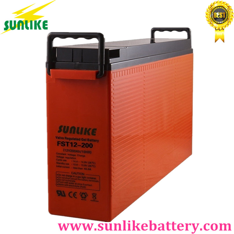 deep cycle battery, front terminal battery, sunlike battery