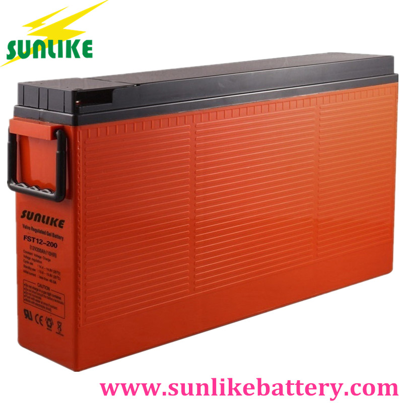 agm battery, front terminal battery, 200ah telecom battery