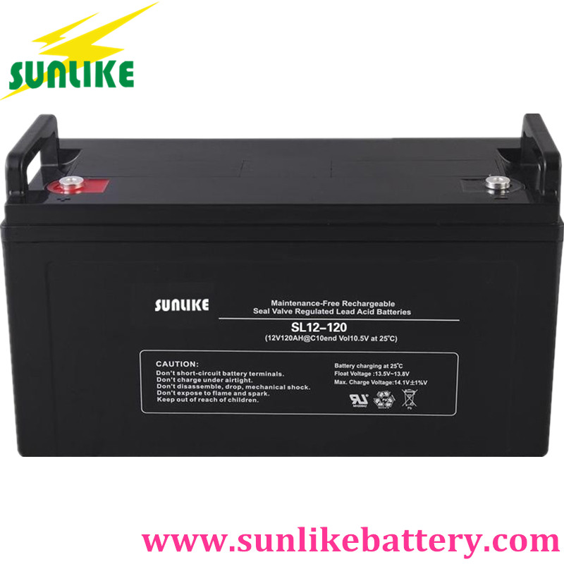 solar battery, lead acid battery, street light battery 12v120ah