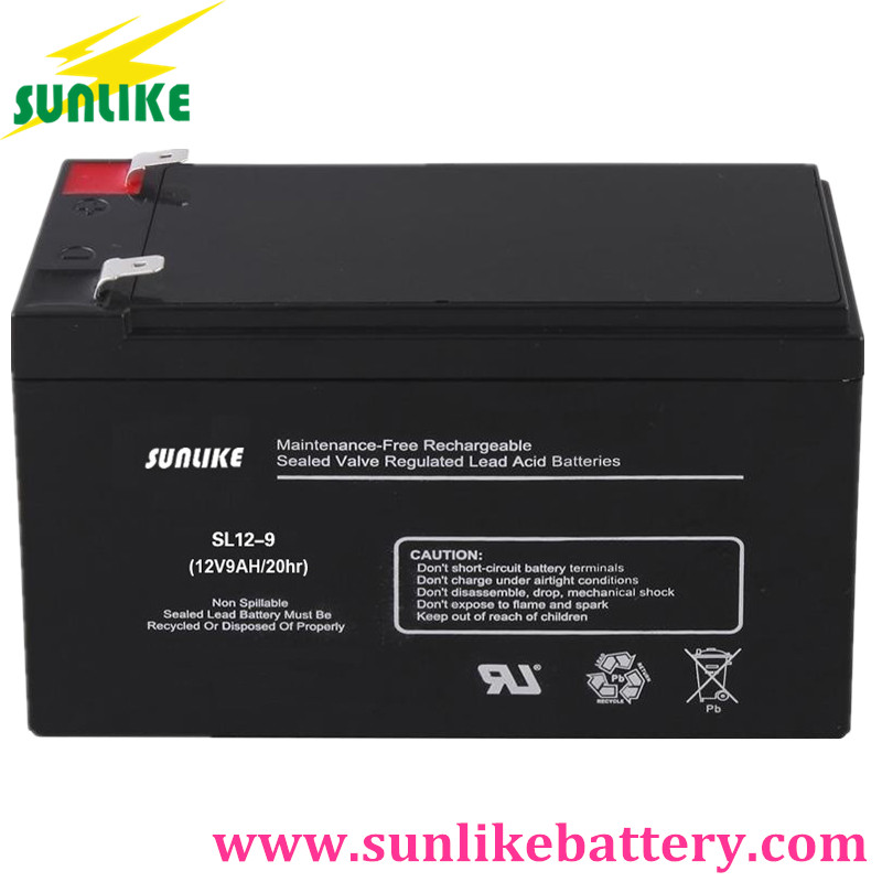 deep cycle battery 12v9ah, emergency light battery, ups battery
