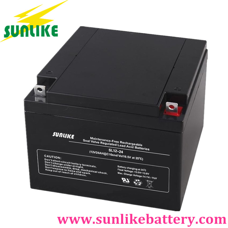 battery 12v24ah, deep cycle battery, sla battery