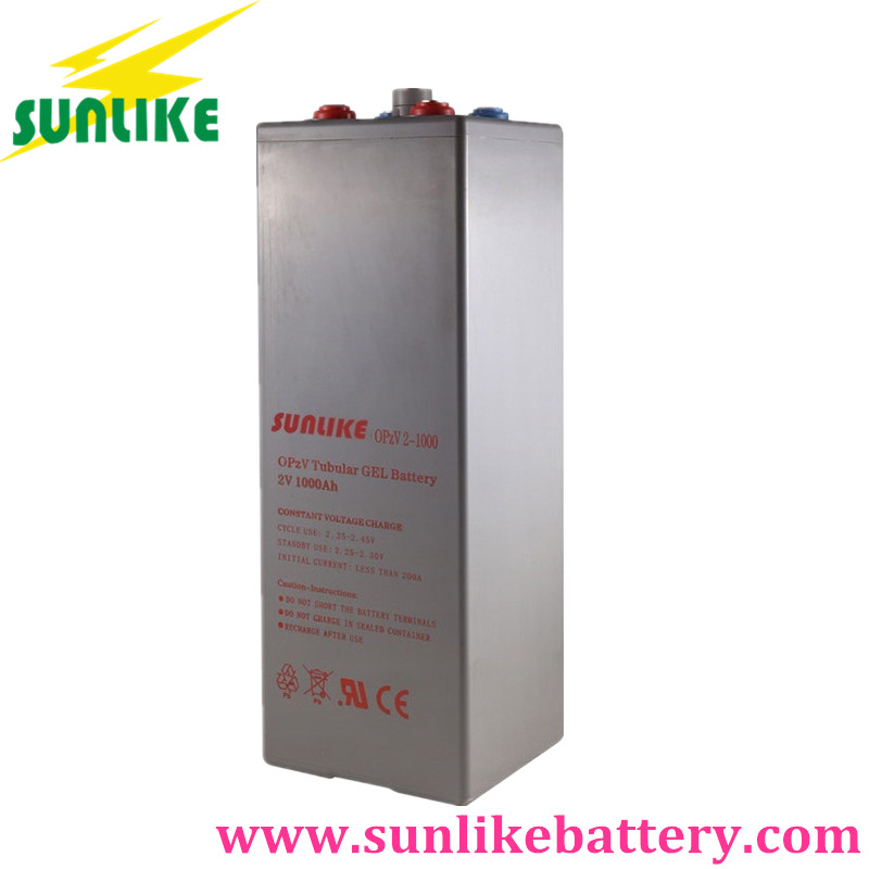 OPzV Tubular Gel Battery, OPzV Battery 2V1000Ah