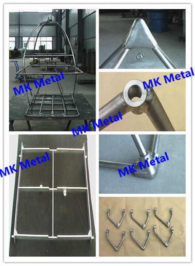 Grade 5 ASTM B338 Titanium Welding assembly parts