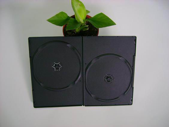 7mm small black double DVD case