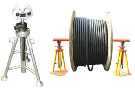 Cable drum lifting trestle tripod Reel Jacks-Cable Drum Jacks