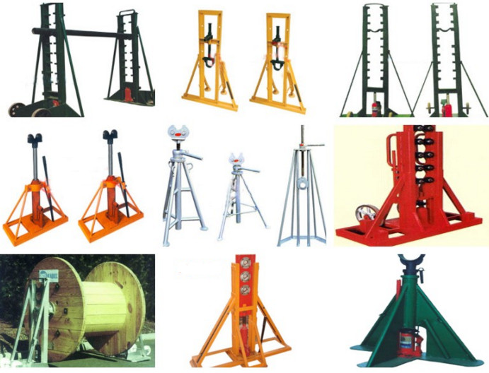 5 ton , 10 ton Hydraulic Cable Drum Jacks / Cable Jack Stand