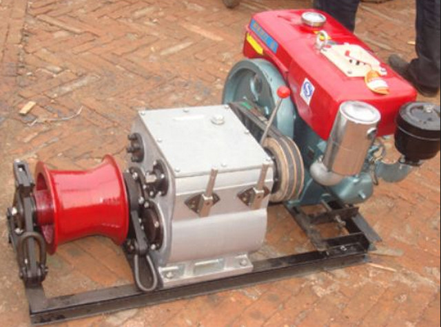 transmission line cable winch