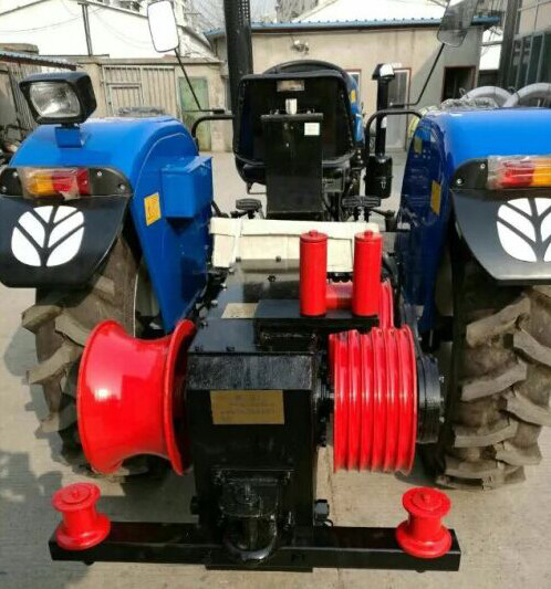 Motorized grinder, cable winch