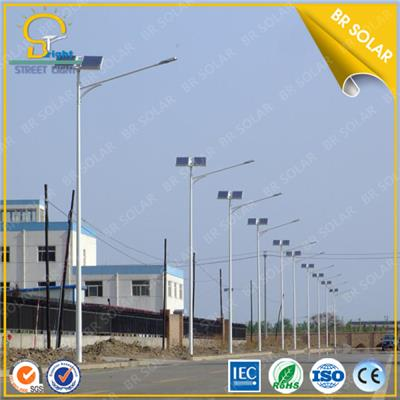 30W LED 6M pole Solar Street Lighting equal to 150W HPS Lamp