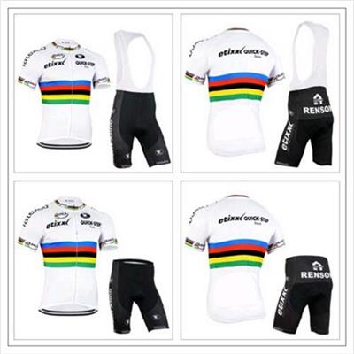 2016 Quick Dry Bike Road Cycling Jersey Set Short Sleeve and Bib Pants
