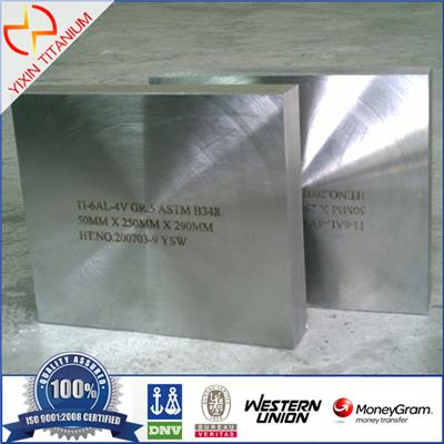 Titanium Block ASTM B348 Ti6AL4V 50*250*290MM
